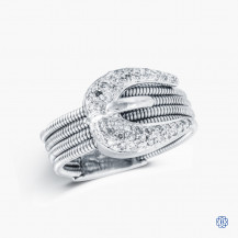 14k white gold diamond custom made ring