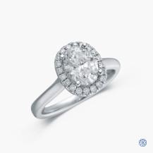 14kt White Gold 1.30ct Diamond Engagement Ring
