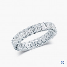 14kt White Gold Diamond Custom Made Eternity Band