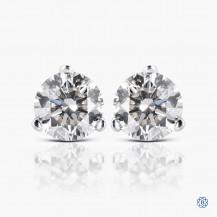 14k white gold 0.78ct diamond stud earrings