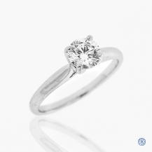 18kt white gold 0.75ct Maple Leaf Diamond Engagement Ring