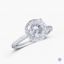 14k white gold 1.46ct old european cut diamond engagement ring