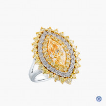 18kt White and Yellow Gold 2.04ct Diamond Ring