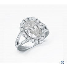 14kt white gold 3.50ct pear shaped diamond engagement ring