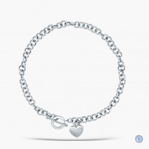 10kt White Gold Round Link Chain
