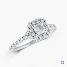Hearts on fire platinum 0.32ct diamond Engagement ring