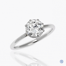 14k white gold 1.52ct transitional diamond solitaire engagement ring