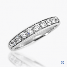 18k white gold 0.45ctw diamond band