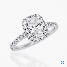 18kt white gold 0.80ct Maple Leaf Diamond Engagement Ring