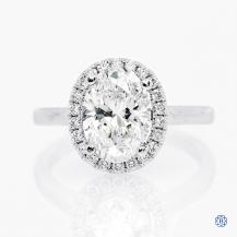 14k white gold 2.00ct Lab-Grown Diamond Engagement Ring