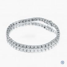18kt white gold diamond tennis bracelet