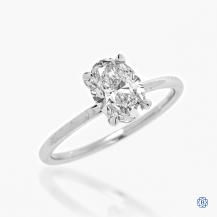 14k white gold 1.31ct. Lab Created Diamond Engagement Ring