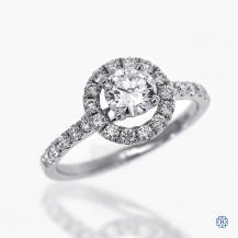 18k white gold 0.65ct diamond engagement ring