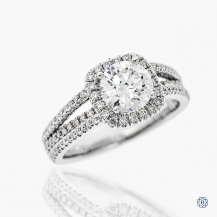 Gabriel & Co. 14kt white gold 1.25ct Lab Created Diamond Engagement Ring