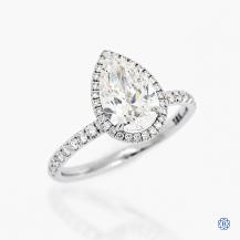 18k white gold 1.50ct diamond halo design engagement ring