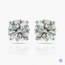 14kt white gold 2.03ct Lab Created Diamond Stud Earrings
