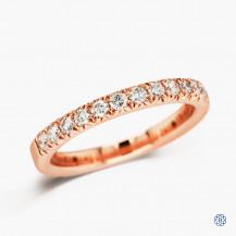 Scott Kay 14k rose gold and diamond band