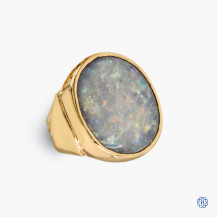 14k yellow gold 9.50cts opal ring