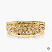 18k yellow gold rhodium enhanced 2.50ct diamond bangle