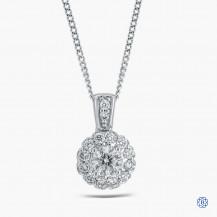 14k white gold 0.55cts Canadian diamond pendant