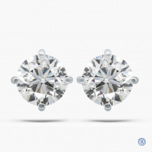 14k white gold 2.01cts diamond stud earrings
