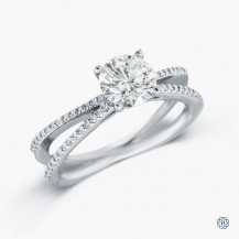 Hearts on Fire 18k white gold 1.07ct diamond engagement ring