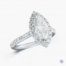 14kt White Gold Diamond Marquise Engagement Ring