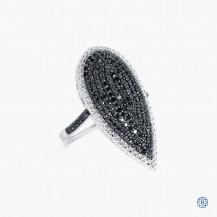Sterling Silver Black Diamond Ring