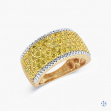 Sterling Silver Yellow Gold Plated Yellow Diamond Ring