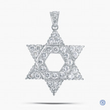 "18k white gold and diamond custom made ""star"" pendant"