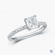 18k White Gold 1.00ct Maple Leaf Diamond Engagement Ring