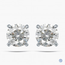 14kt White Gold 1.03ct Lab Created Diamond Stud Earrings