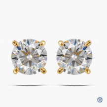 14kt Yellow Gold 1.40ct Lab Created Diamond Earrings