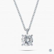14kt White Gold 1.01ct Lab Created Diamond Pendant with Chain