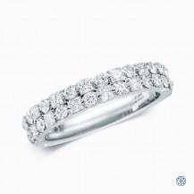 18kt White Gold Maple Leaf Diamonds Band
