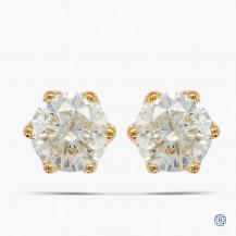 14kt Yellow Gold 2.06ct Maple Leaf Diamond Stud Earrings