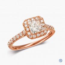 14kt Rose Gold 0.59ct Maple Leaf Diamond Engagement Ring
