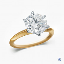 18kt White and Yellow Gold 3.03ct Diamond Engagement Ring