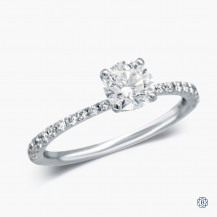Platinum 0.72ct Maple Leaf Diamond Engagement Ring