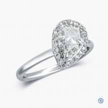 14kt White Gold 1.62ct Maple Leaf Diamond Engagement Ring