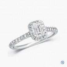 18kt White Gold 0.72ct Maple Leaf Diamond Engagement Ring