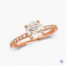 14kt Rose Gold 1.21ct Diamond Engagement Ring