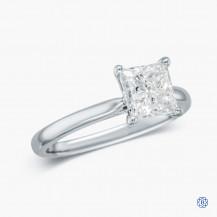 18kt white gold 1.52ct Maple  Leaf Diamond Engagement Ring