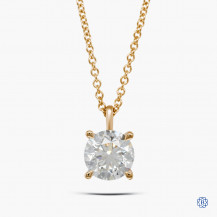 14kt Yellow Gold 1.50ct Lab Created Diamond Pendant with Chain