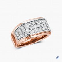 10kt Rose and White Gold Diamond Ring