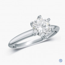 14k White Gold 1.09ct. Diamond Solitaire Engagement Ring