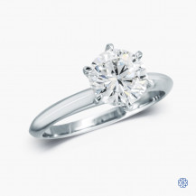 14k White Gold 1.51ct Diamond Solitaire Engagement Ring