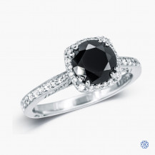 Tacori 18kt White Gold 2.30ct Black Diamond Dantela Engagement Ring
