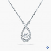 14kt White Gold 0.70ct Maple Leaf Diamond Pendant with Chain