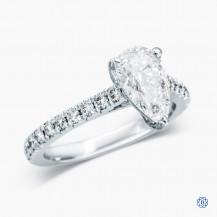 Platinum 1.30ct Maple Leaf Diamond Engagement Ring
